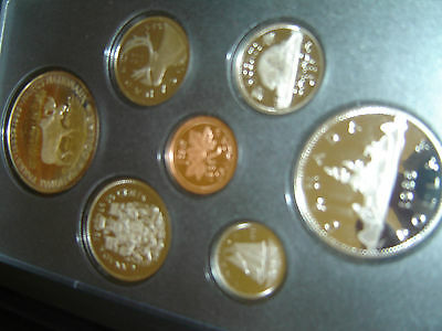 1985 Canada Proof Double Dollar Set (7 Coins Cent to Silver Dollar Mint Set)