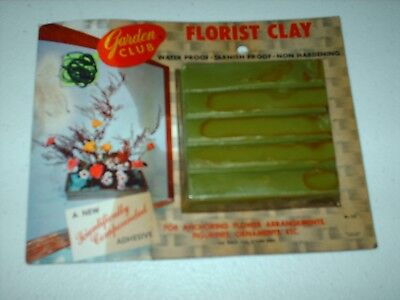 New In Package Garden Club Brand Florist Clay -Flower Arrangement Adhesive -5 Oz