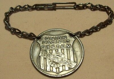 1920's~UNION PACIFIC SYSTEM~PULLMAN CAR KEY CHAIN FOB ADVERTISING~OVERLAND ROUTE