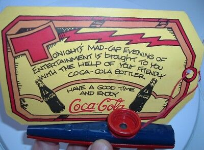 Vintage Coca Cola Advertising REAL Musical METAL KAZOO Coke Promo Event MINT!