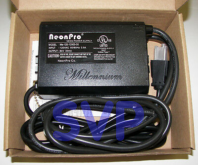 ** UL Listed 12kV / 12,000 volts (8kV RMS) NEON SIGN TRANSFORMER POWER SUPPLY