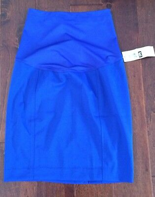 Liz Lange Maternity Size Small Pencil Skirt Blue New With Tags