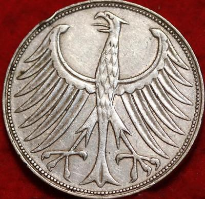 1960 Germany 5 Mark Silver Foreign Coin