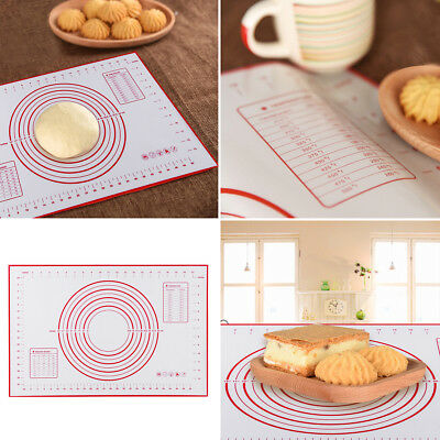 Non-Stick Silicone Pastry Pad Baking Kneading Dough Oven Mat Liner Cooking Tools