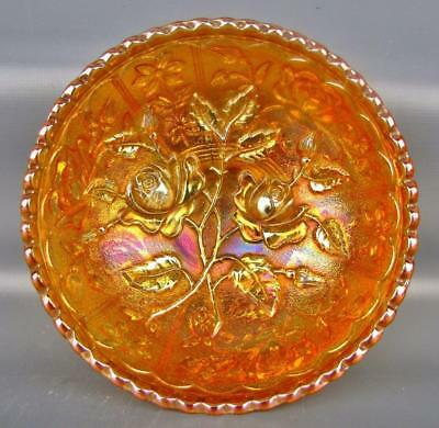 Carnival Glass - Imperial OPEN ROSE Antique Marigold Small Berry Bowl  4499