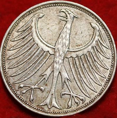 1966 Germany 5 Mark Silver Foreign Coin