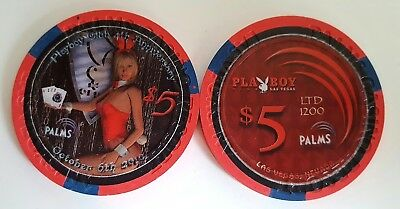 $5 Las Vegas Palms Playboy 4th Anniversary Casino Chip - Uncirculated