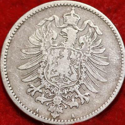 1876 Germany 1 Mark Silver Foreign Coin