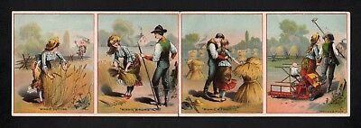 1880s Trade Card 4 panel Folder - Minneapolis Harvester & Binder