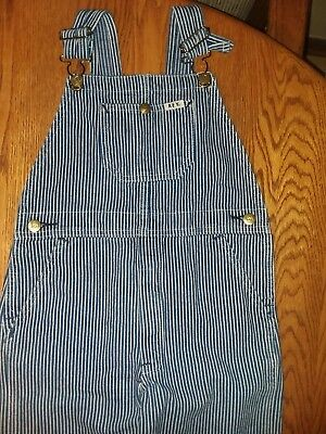 Vintage Key Cotton Denim Bib Overalls Child Boy Girl Size 6 Engineer Farmer Cute