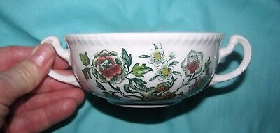 green transferware vintage WOOD DORSET floral toile CREAM SOUP cup