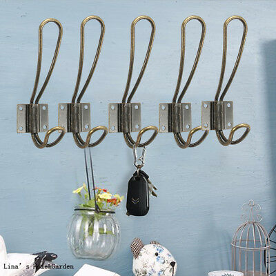 5Pcs Industrial Vintage Butterfly Coat Hooks Hanger Rack Hanging Wall Mounted