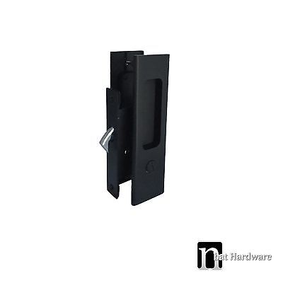 Ultimate Sliding Door Lock Privacy Handles Set - Matt black Finish Handle (1126)