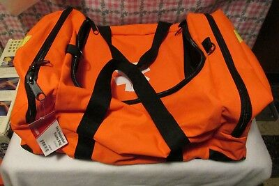 First Responder Trauma Bag ORANGE Padded Dividers Paramedic Rescue EMT 410051F