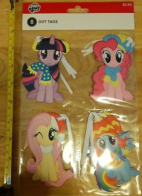My Little Pony Christmas Holiday Gift Tags 8 Pack American Greetings/Hasbro 2017