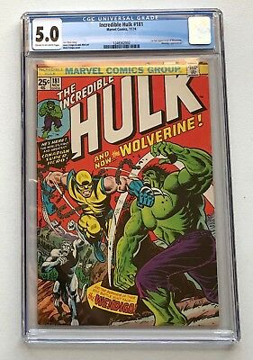 The Incredible Hulk #181 CGC 5.0 FN 1st App. of Wolverine Uncanny X-Men New Case