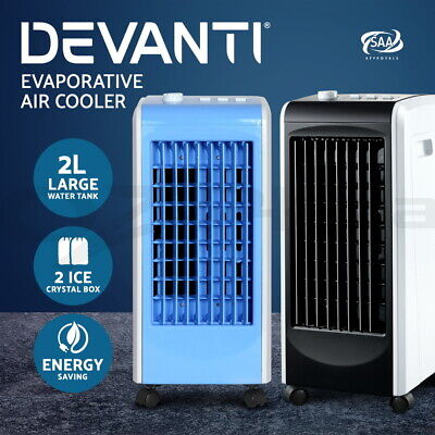 Devanti Portable Evaporative Air Cooler Ice Crystal Fan Humidifier Conditioner