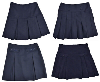 Girls Navy Blue School Skirts Ages 3 Years up 9 Years Varoius Styles Top Makes