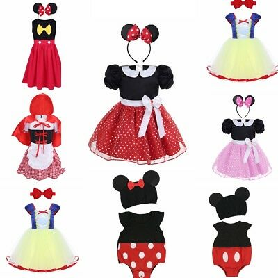Kid Girls Princess Mini Mouse Halloween Party Cosplay Costume Fancy Dress Up