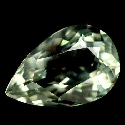 3.89 CT AAA! NATURAL! GREEN URUGUAY AMETHYST PEAR 9 X 13 mm.