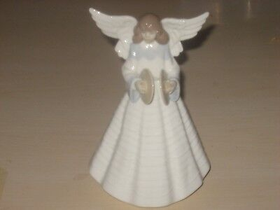 Beautiful Lladro Tree Topper Angel With Cymbals Figurine #5876