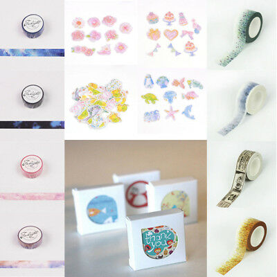 Animal Scenery Paper Sticky Adhesive Sticker Scrapbooking Washi Tapes Hotstyle #