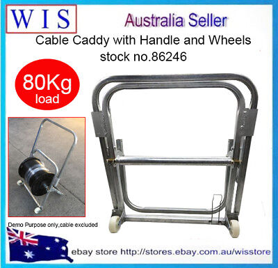 RG6 Cable Caddy w Wheels & Handle,Handi-Reel Cable & Cable Drum Holder-86246