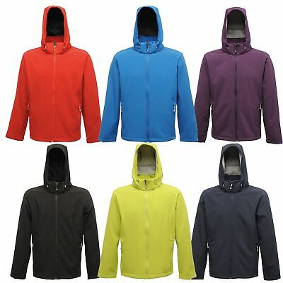 Regatta Mens Arley Stretch Softshell Jacket Detachable Hood Zip Pockets Free PP