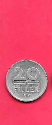Hungary Km573 1985 Vf-Very Fine-Nice Old Vintage Aluminum 20 Filler Coin