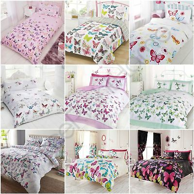 Butterfly Duvet Cover Sets Kids Adults - Junior, Single, Double & King Size