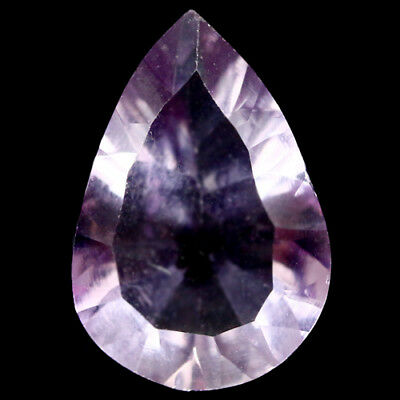 4.12 Ct Natural! Purple Clr Change To Pink Brazilian Amethyst Concave Pear Shape