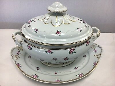 Mottahebdeh Blended Serving Soup Tureen With Underplate