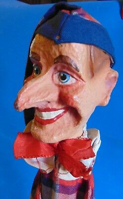 antique magnificent German   paper  mache  Punch  from puppet  Punch & Judy