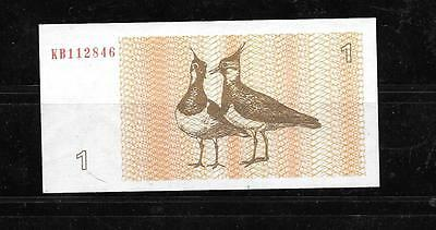LITHUANIA #39 1992 UNused TALONAS BANKNOTE BILL NOTE CURRENCY PAPER MONEY