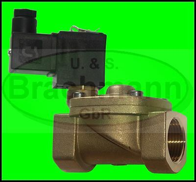 "SOLENOID VALVE 1/2 3/4 "" 1 "" Brass 230V/50Hz VITON FKM up to 16bar"