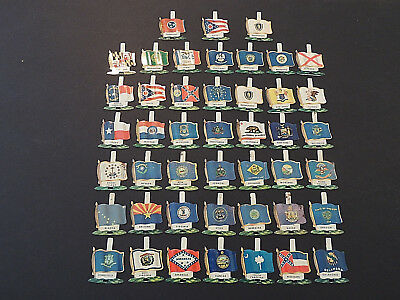 (45) Lot 1959 NABISCO STATE Flags Tab Pin Shredded Wheat Cereal Giveaway, 2 Dups