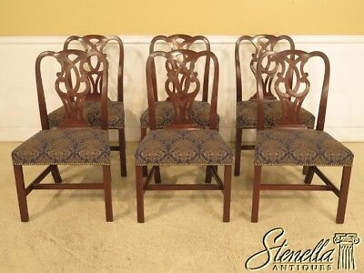 L40754E: Set Of 6 BAKER Vintage Mahogany Chippendale Dining Room Chairs