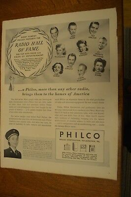 POW LTJG Leona Jackson USNNC in 1944 PHILCO Radio Hall of Fame Ad
