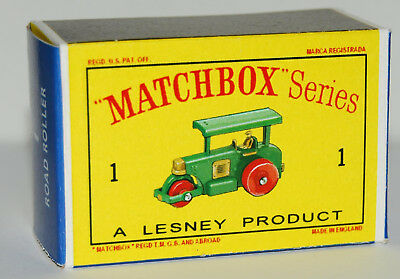 Custom Made Display Box Only For Matchbox 1 Road Roller