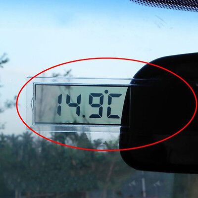 LCD Digital Temperature Meter Indoor Home Outdoor Suction Cup Car Thermometer cp