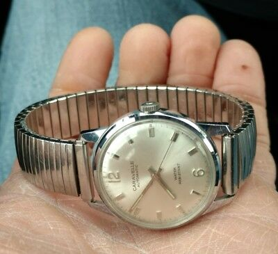 Awesome vintage Caravelle (by Bulova) automatic men's watch. Running
