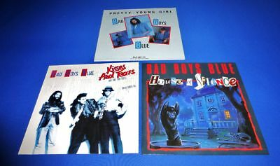 """Bad Boys Blue - 3 Maxi 12"""" -> Kisses And Tears / House Of Silence / Pretty Young"""
