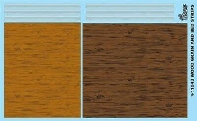Gofer 11043 Wood Grain (2 types) + bed girder stripes Decal Sheet 1/24 and 1/25