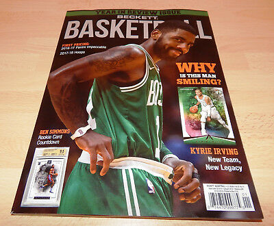 Beckett Basketball NBA #304 January 2018 Kyrie Irving TOP!!! Boston Celtics