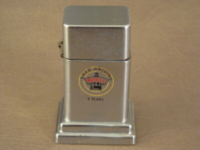 Vintage ZIPPO USA Barcroft TABLE LIGHTER Advertising Welex 4 Years Safe Driving