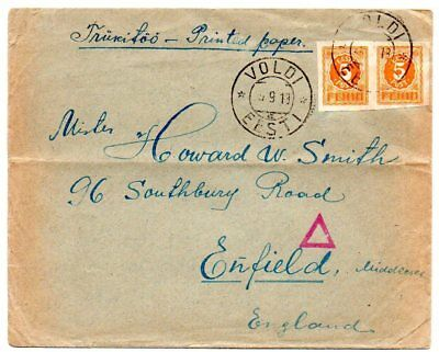 Estonia: 1919 Printed matter cover to UK from Voldi censored