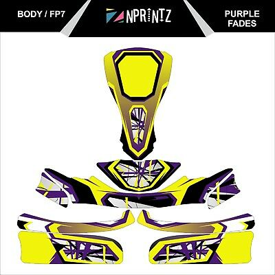 Fp7  Purple Fade Style Full Kart Sticker Kit - Karting -