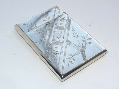 Fine Antique Aesthetic 19Th Century Gorham Solid Silver Sterling Card Case 1872