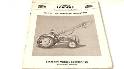 Vintage 1951 Ford Tractor Dearborn Loaders Assembly And Operating Instructions.