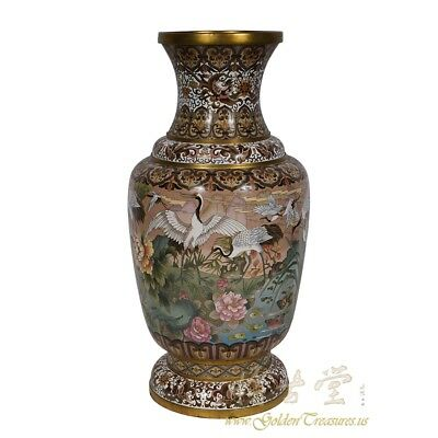 Antique Chinese Cloisonne Vase 18LP01